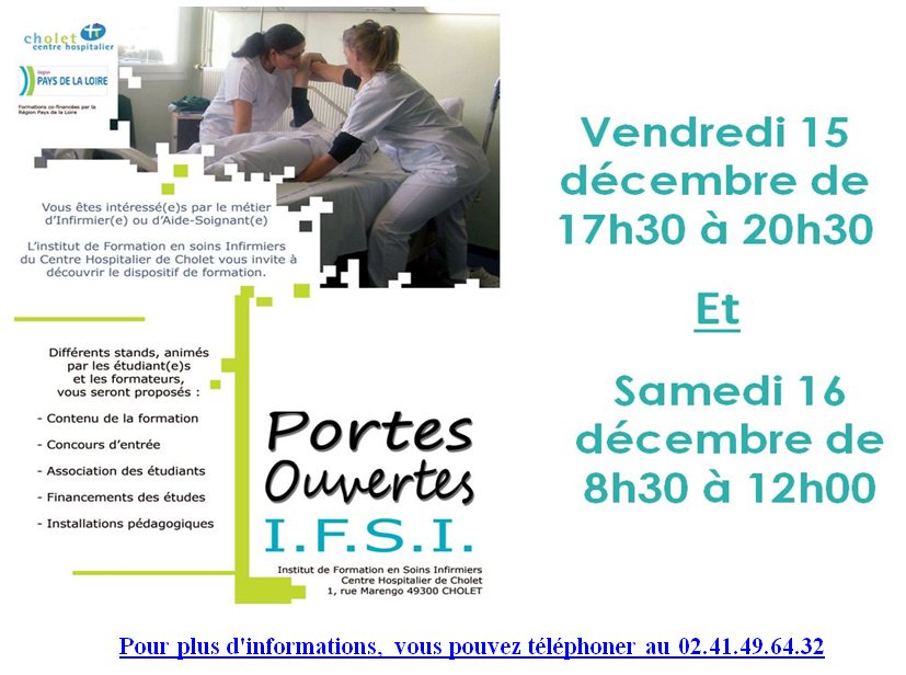 Portes ouvertes IFSI IFAS CHOLET 2017