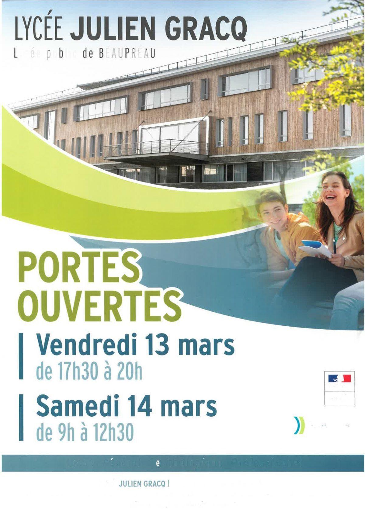 PORTES OUVERTES IFAS Antenne Lycée Julien Gracq de BEAUPREAU